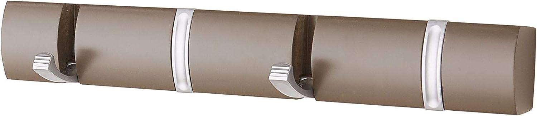 Direct Online Houseware 4 Door Hooks In Satin Chrome On Espresso Mountable Board