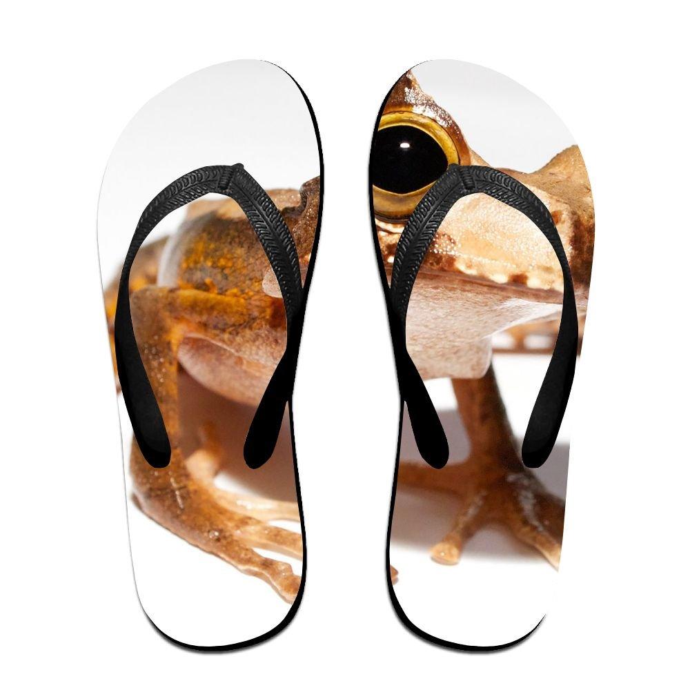 Couple Flip Flops Ugly Frog Print Chic Sandals Slipper Rubber Non-Slip Spa Thong Slippers
