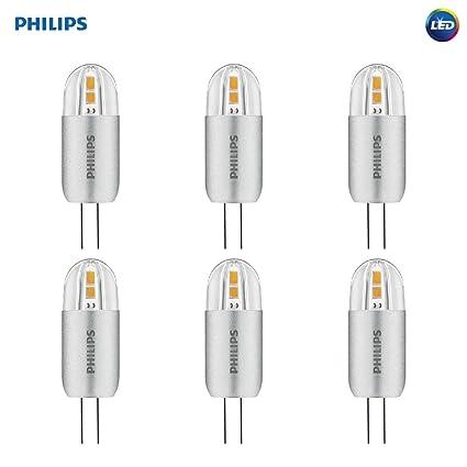 Philips - Paquete de 6 bombillas LED de cápsula, equivalentes a 10 W, color