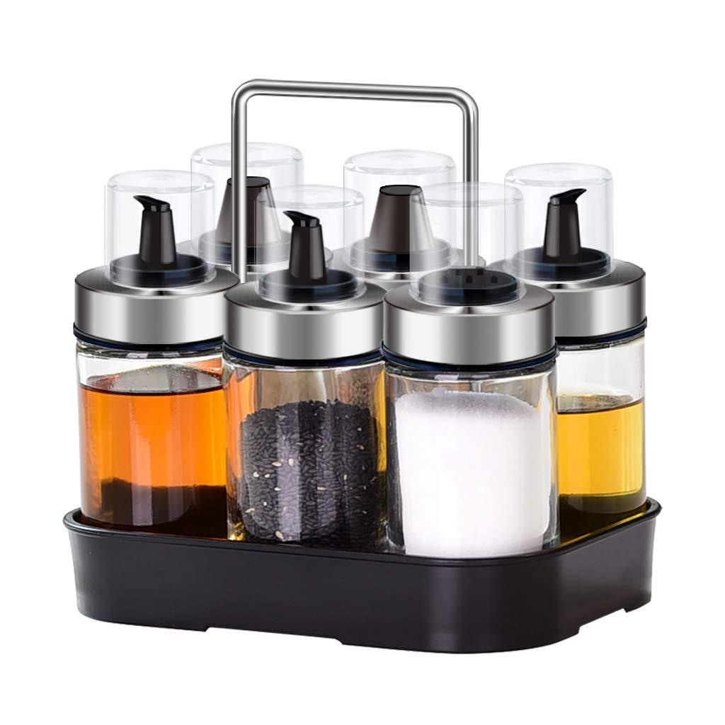 Goquik Glass Leakproof Seasoning Bottle Oil Pot Storage Shelf Vinegar Pot Salt Bottle Pepper Bottle Pepper Bottle Kitchen Supplies by Goquik
