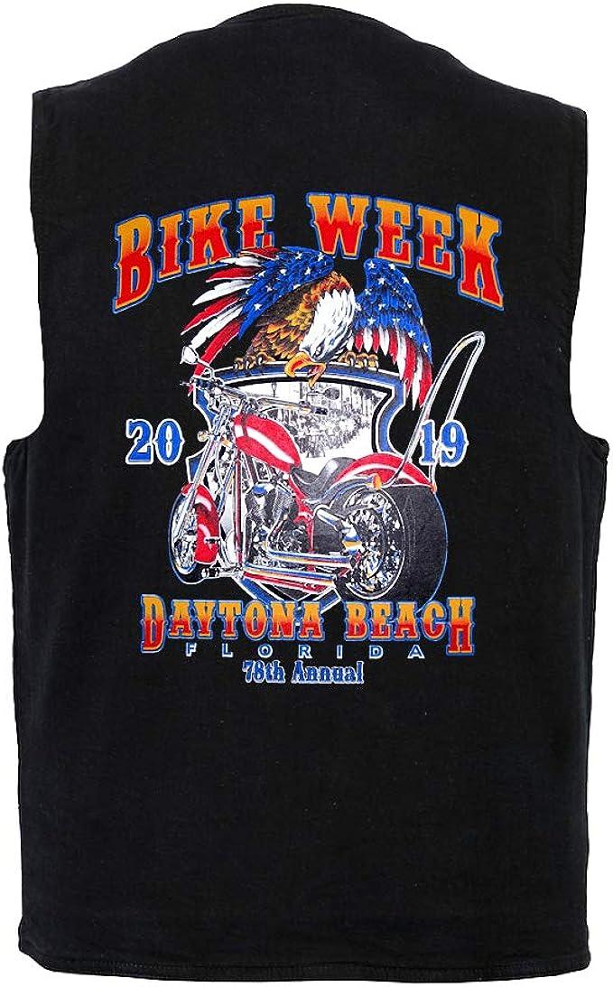 Leather Supreme Womens Daytona Beach Bike Week 2019 Biker Denim Vest