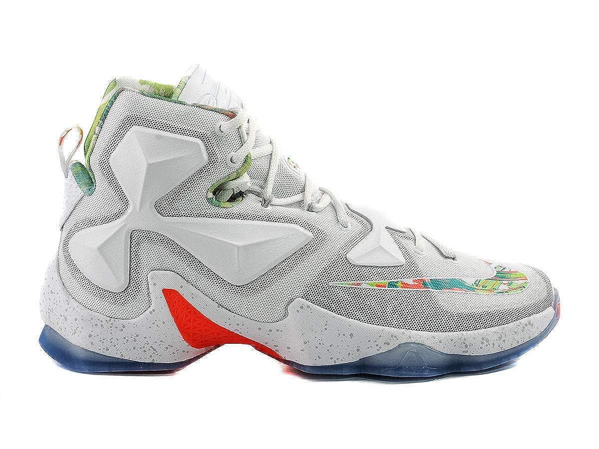 [ナイキ] レブロン Lebron XIII 13 メンズ Easter バスケットボール White Platinum 807219-108 (US13(31cm)) [並行輸入品] B074W3BBRZ