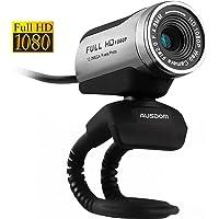 AUSDOM AW615 , interfaccia USB webcam 1080P con microfono, Full HD 1080p/ fps fotocamera web, video chat, alta risoluzione foto, immagine e trascrizione, Voice conversazione