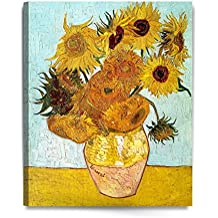 IPIC Twelve Sunflowers by Vincent Van Gogh- The Van Gogh Classic Arts Reproduction, Museum Quality Oil Painting Reproductions, Art Giclee Print On Canvas, Stretched Canvas Gallery Wrapped, Easy to hang. 24x30""