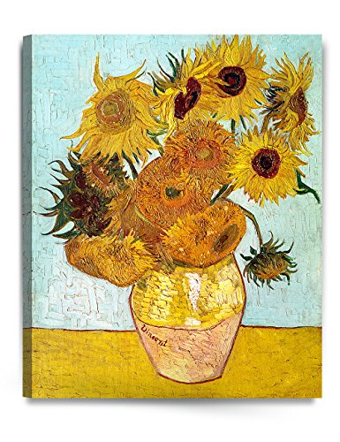 IPIC Twelve Sunflowers by Vincent Van Gogh- The Van Gogh Classic Arts Reproduction, Museum Quality Oil Painting Reproductions, Art Giclee Print On Canvas, Stretched Canvas Gallery Wrapped, Easy to hang. 24x30