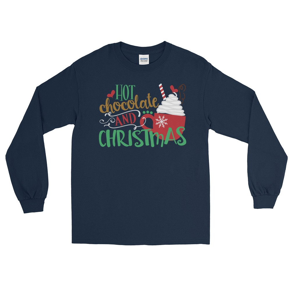 Arkansas made Hot Chocolate and Christmas Long Sleeve T-Shirt by