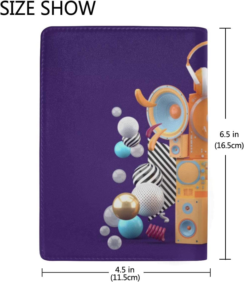 Passport Cover Set Purple Attractive Intriguing Ball Stylish Pu Leather Travel Accessories Passport Cover For Boys For Women Men