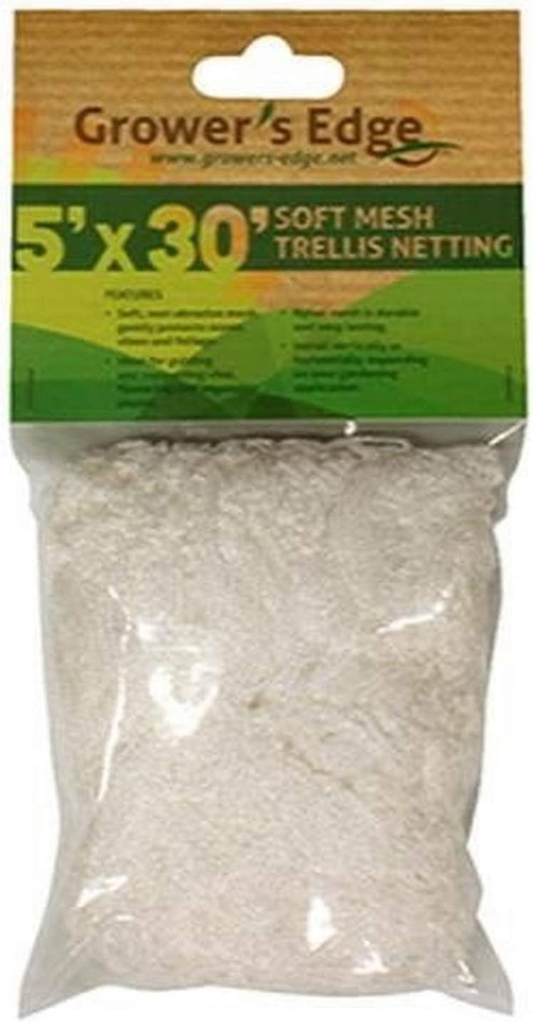 Growers Edge Soft Mesh Trellis 5x15 3.5 Inch Squares-Free and Discrete Shipping!