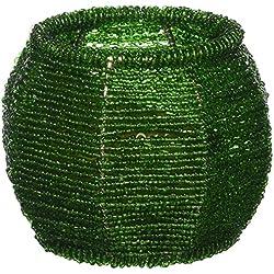 Koehler Home Decorative Emerald Green Beaded Candle Holder