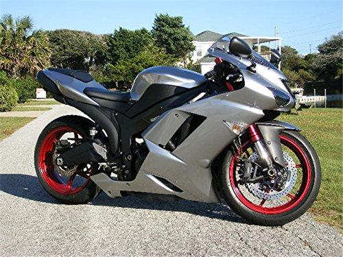 New Glossy Silver Fairing Fit for Kawasaki Ninja 2007 2008 ...