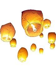 Diagtree 20 PCS White Paper Lanterns,Shellvcase 10Pcs Sky Wish Lanterns,Fully Assembled, 100% Biodegradable, New Designed Sky Lanterns for Birthdays, Ceremonies, Weddings and More