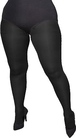 c978b5690eebe Adrian beautiful plus size opaque tights Amy 60 Denier at Amazon ...