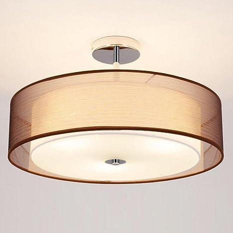Lámpara de tela led colgante luz de techo LED con sombra ...