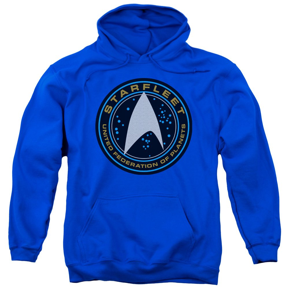 "Star Trek /""Starfleet Patch/"" Hoodie Sweatshirt or Long Sleeve T-Shirt"