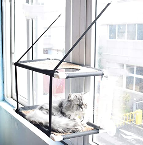 Remarkable Morezi Cat Window Perch Hammock Cat Bed Kitty Sunny Seat Durable Pet Perch With Upgraded Version 4 Big Suction Cups Cat Bed Holds Up To 60Lbs Andrewgaddart Wooden Chair Designs For Living Room Andrewgaddartcom
