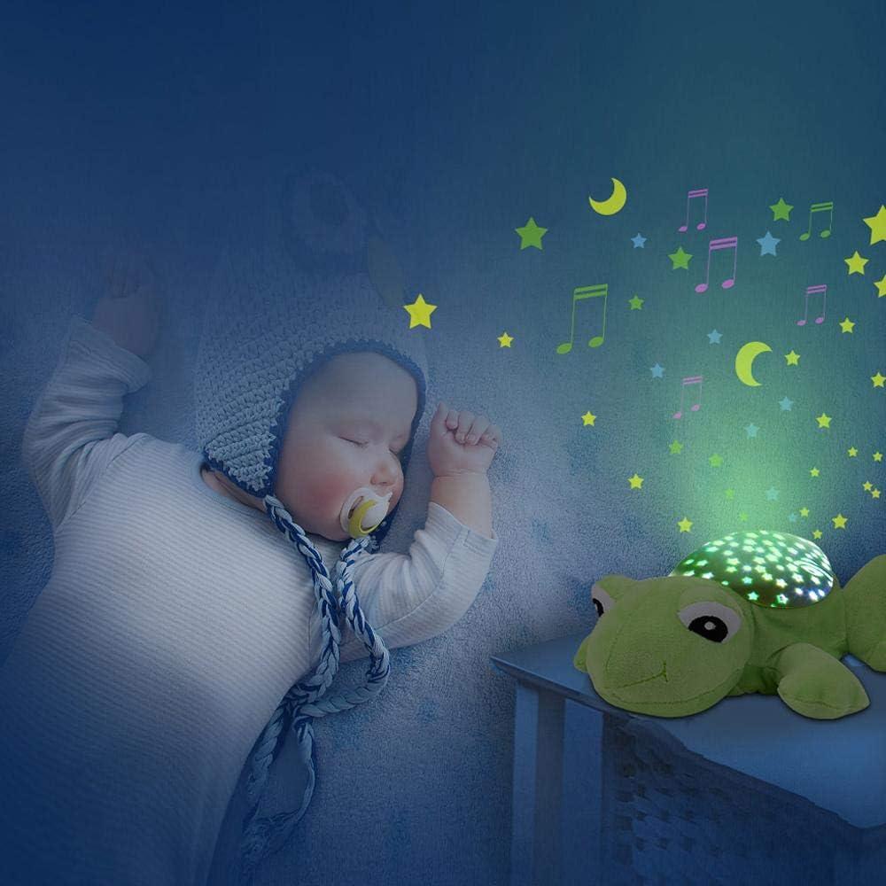 Adecuado para beb/és reci/én nacidos projector butterfly Funky Planet Proyector para beb/és con melod/ías Elefante Felpa Luz nocturna Sue/ño dormido