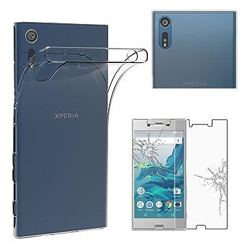 ebestStar - Funda Compatible con Sony Xperia XZ, XZ Dual Carcasa Silicona, Protección Claro Ultra Slim, Transparente + Cristal Templado [NB: Leer ...