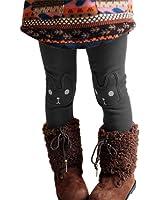 BOBORA Kid Girls Legging Pants Cute Rabbit Printed Fleece Thick Tights