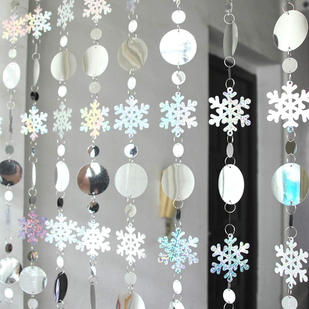 6pc Guirnalda Papel Redonda Puntos Circulo Decoraciones Colgante Guirnalda colgante de Navidad guirnalda colgante de copo de nieve de Navidad Guirnalda colgante de papel de Navidad para bodas Navidad