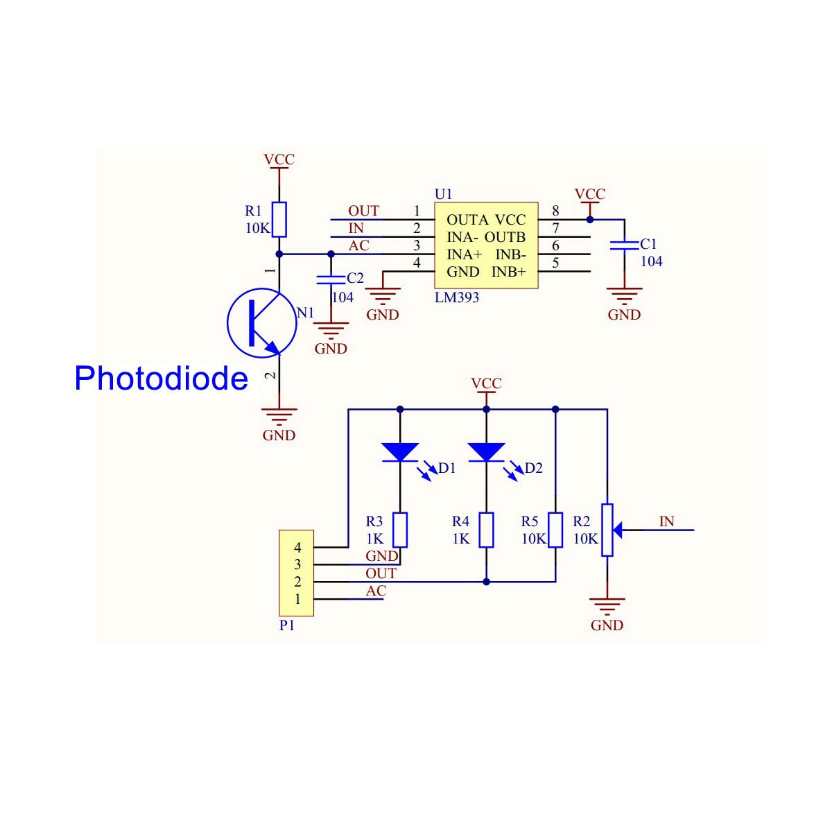 DROK Four Wires Light Detection Photosensitive Sensor Module Photodiode  With Directional Property: Amazon.com: Industrial & Scientific