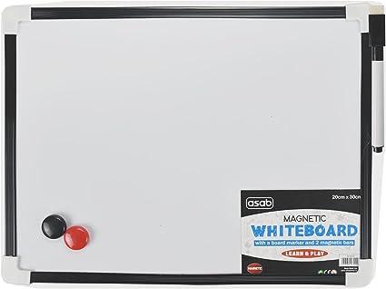 A4 Dry Wipe Magnetic Mini Office Whiteboard Notice Memo White Board Pen /& Eraser