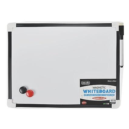 ITP IMPORTS Pizarra blanca magnética tamaño A4, con rotulador y borrador