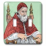 3dRose lsp_82155_2 Julius Ii, Pope From 1503 To 1513, Engraving Eu16 Pri0098 Prisma Double Toggle Switch