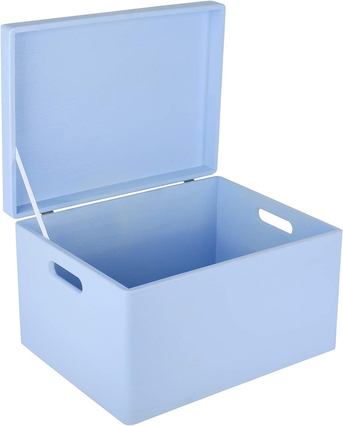 Creative Deco XXL Azul Caja de Madera Grande para Juguetes | 40 x ...