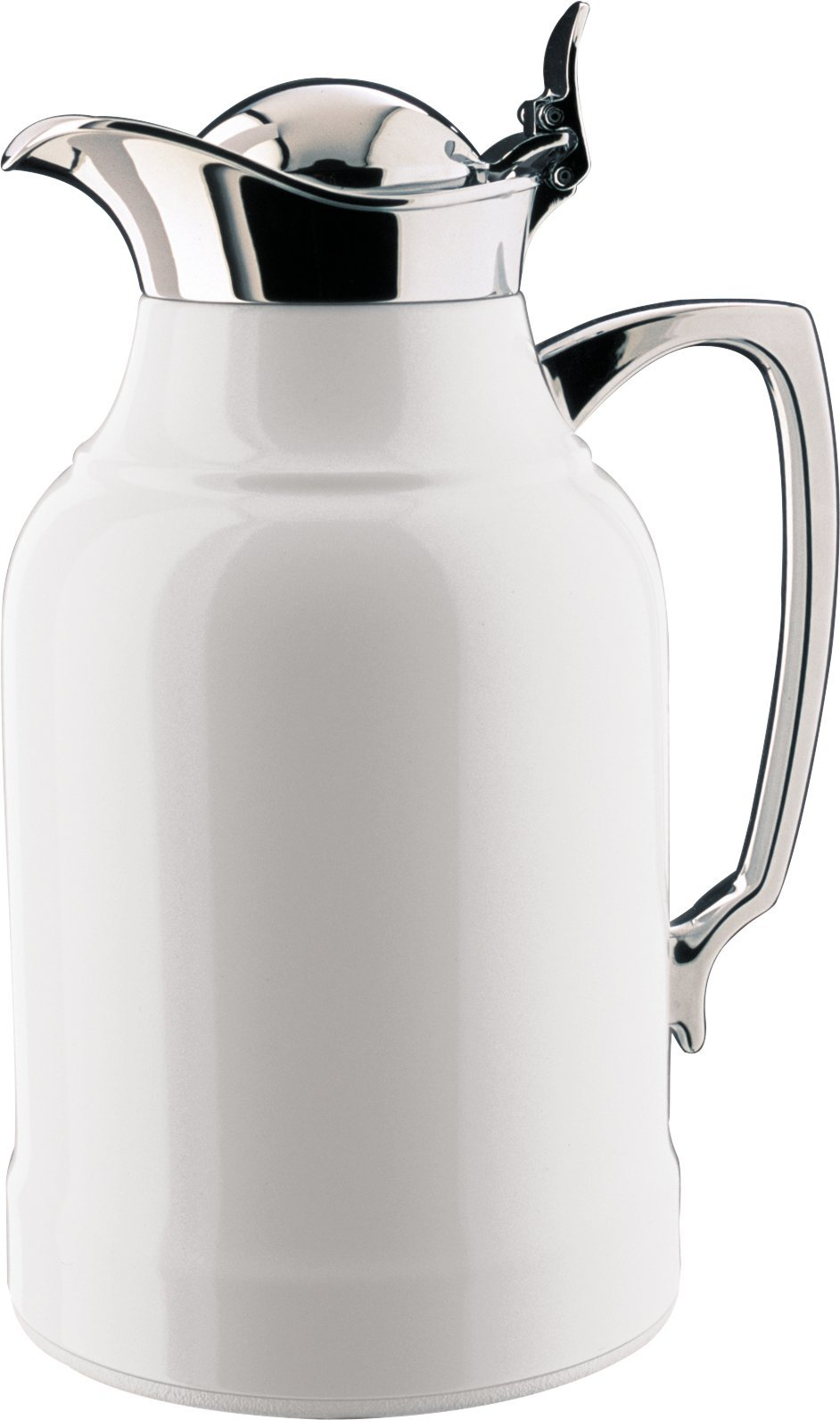 alfi Opal Glass Vacuum Lacquered Chrome Plated Brass Thermal Carafe for Hot and Cold Beverages, 1.0 L, White by Alfi