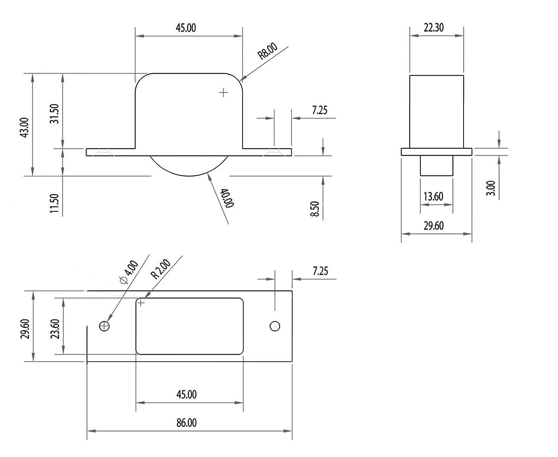 Rueda Hat para embutir en muebles o camas (4 unidades): Amazon.es ...