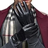 Savanaha Touchscreen Gloves Winter Waterproof Leather Gloves for Texting Cycling