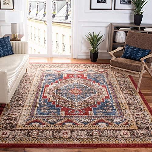 Editors' Choice: Safavieh Bijar Collection BIJ636B Traditional Oriental Distressed Non-Shedding Stain Resistant Living Room Bedroom Area Rug