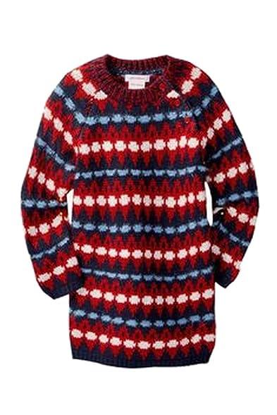 Amazon.com: Joe Fresh Baby Girls Fair Isle Sweater Dress Red 12-18 ...
