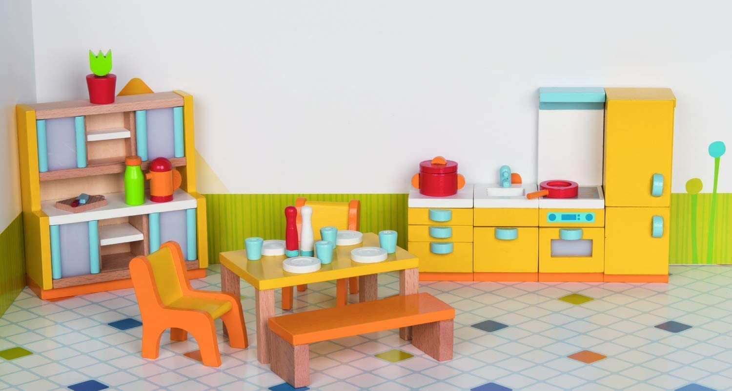 Childrens Room Goki 51540 Furniture for Flexible Puppets Mixed