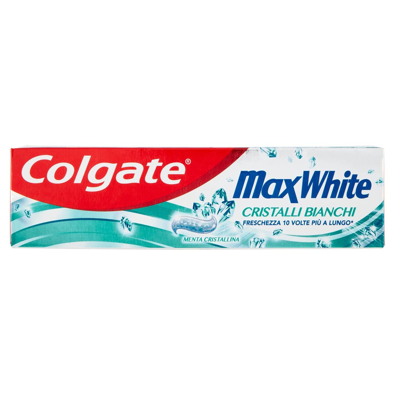Colgate Max White - Pasta dentífrica con cristales blancos, 75 ml