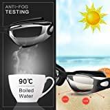 Hurdilen Swim Goggles, Swimming Goggles Anti-Fog UV Protection Coated Lens No Leaking with Nose Clip, Earplugs, Case for Men Women Adult Youth Kids