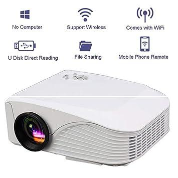 Amazon.com: Proyector inalámbrico LED portátil HD 1080P ...