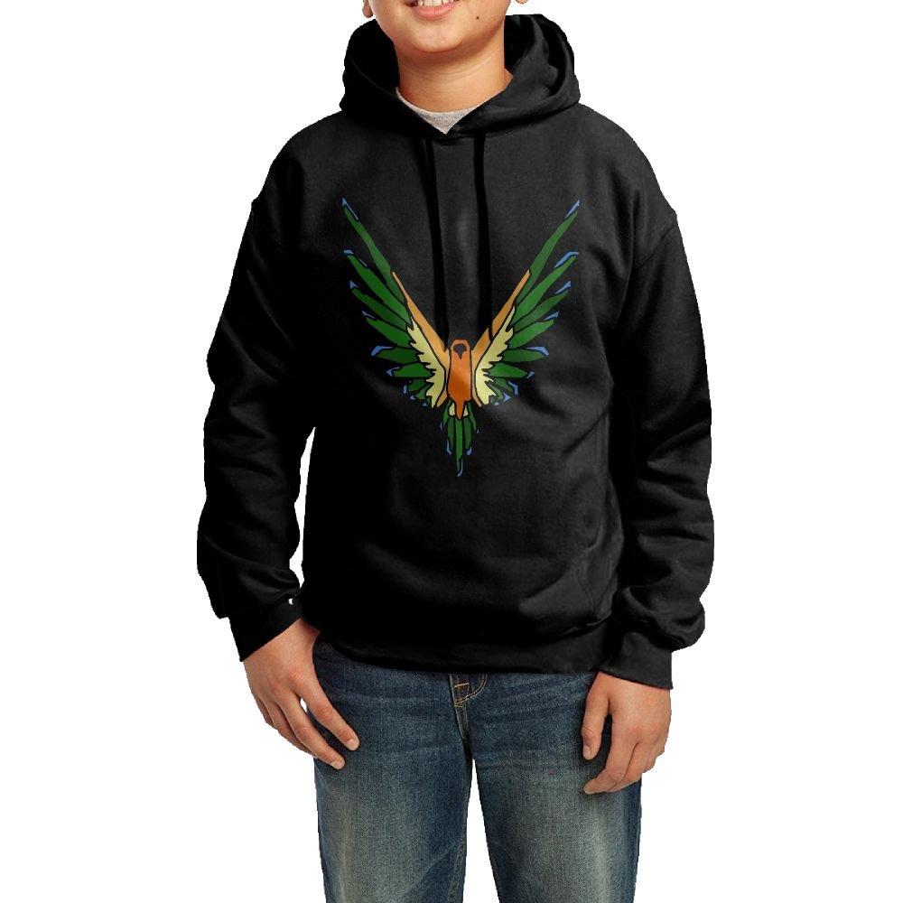 Parrot Maverick Logo Youths Fashion Personality Casual Unisex Hooded Sweatshirt