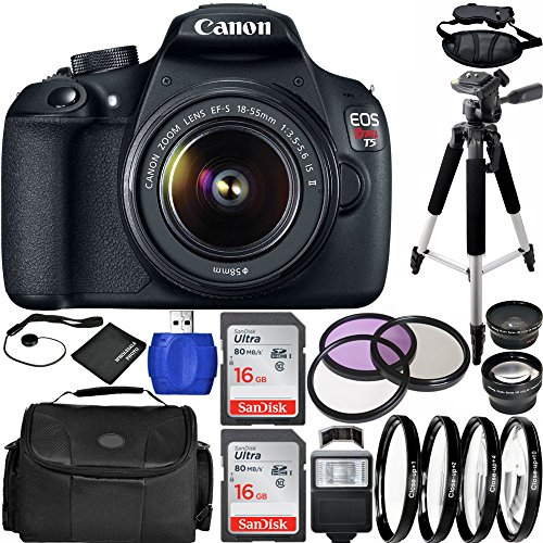 Canon EOS Rebel T5 DSLR Camera Bundle with EF-S 18-55mm f/3.5-5.6 IS II Lens, Carrying Case and Accessory Kit (19...