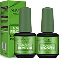 2Pack Magic Nail Polish Remover, Professional Removes Soak-Off Gel Nail Polish Remover 15ml