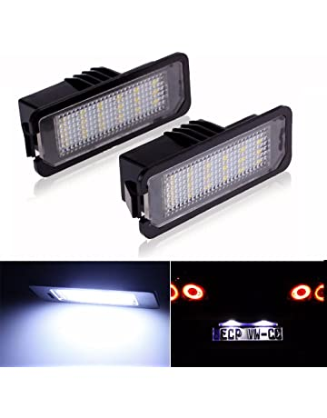 LITTOU 2 X Luz de Matricula 18 LED SMD LED traseras CanBus error free Para golf