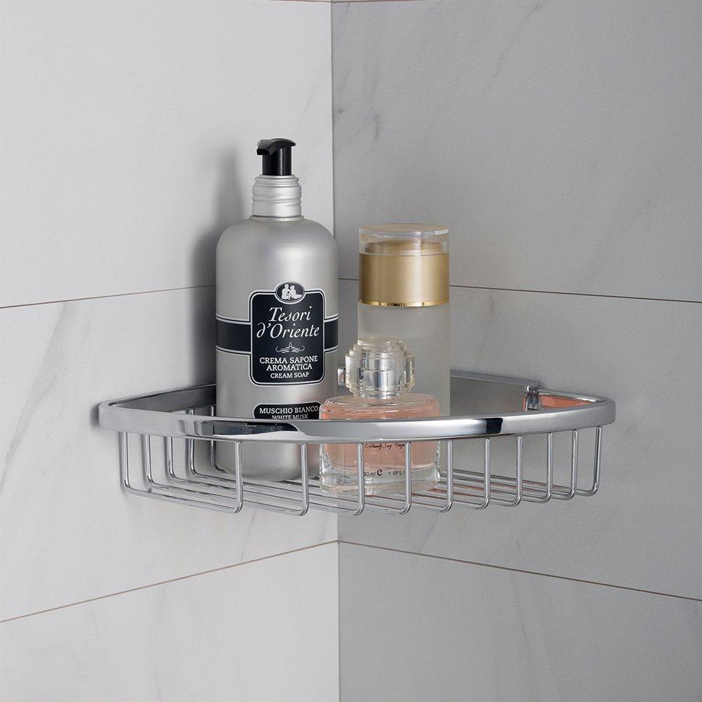 Wall Bathroom Shower Caddy A+ Degree BRASSMASTER Corner Shower Basket Copper