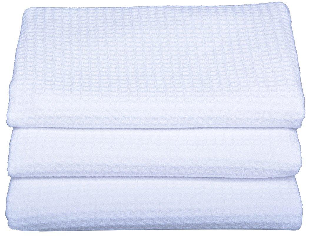Amazon.com: Sinland Waffle Weave Microfiber Kitchen Towels Dish Cloths 16  Inch X 24 Inch 3 Pack White: Home U0026 Kitchen