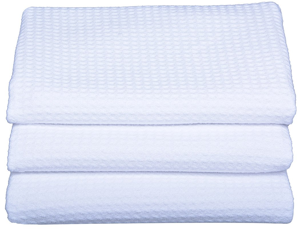 Sinland Microfiber Dish Drying Towels Dish Tolwes Waffle Weave Kitchen Towels 16 Inch X 24 Inch 3 Pack White by Sinland