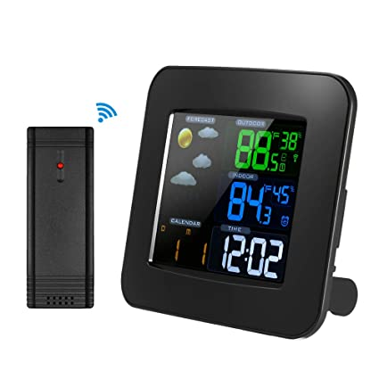 Amazon.com: Decdeal Weather Station Clock Multifunctional ...