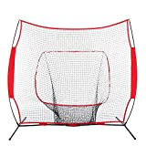 Baseball Softball Practice Hitting Batting Training Net 7x7 Ft Bow Frame W/Bag, Practice Driving Indoor and Outdoor, baseball training equipment batting, Golf Practice Hitting Net, Personal Driving