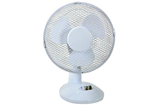 MERCURY - Ventilador de Mesa Blanco Potente y silencioso con 2 ...