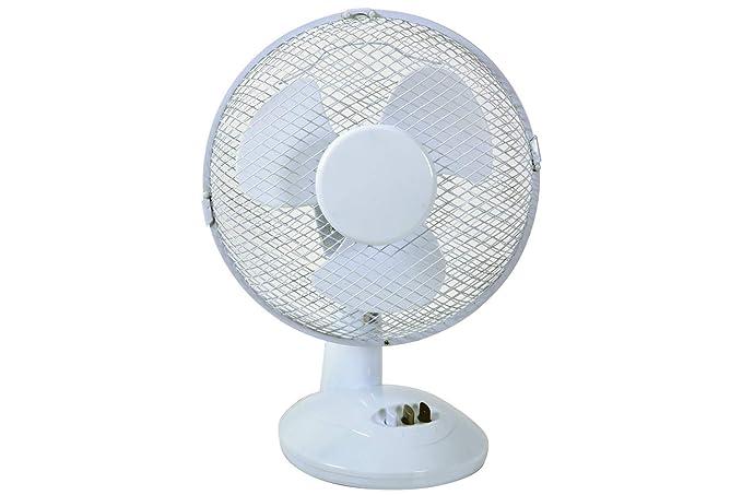MERCURY - Ventilador de Mesa Blanco Potente y silencioso con 2 ajustes de Velocidad, 22 W: Amazon.es: Hogar