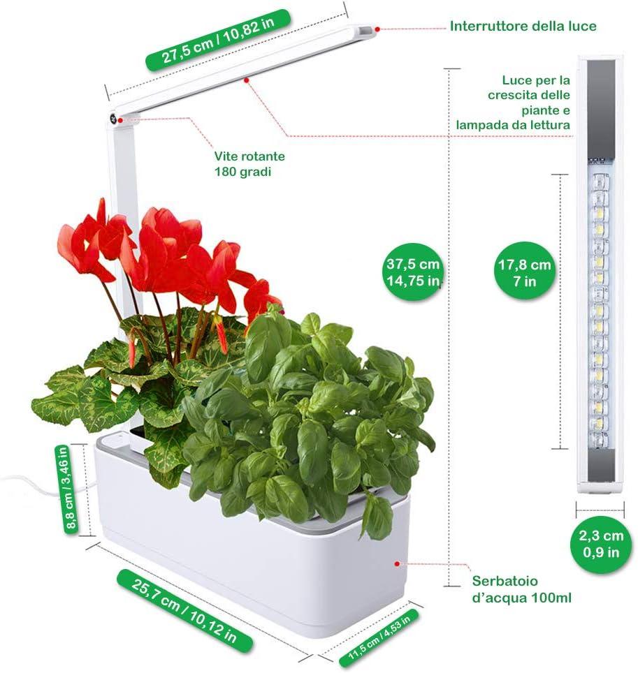 amzWOW Smart Garden Huerto de Interior 100% Eco, para Cultivar ...