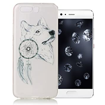 coque huawei p10 silicone loup